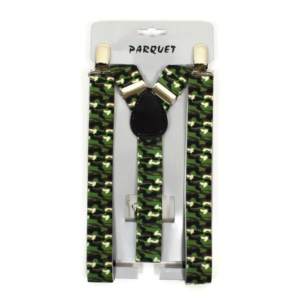 Boy's Y-Back Camo Adjustable Elastic Clip-on Suspenders BSCS1071-13