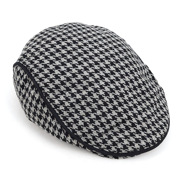 6pc Two Sizes Men's Fall/Winter Houndstooth Ivy Hat - H9413
