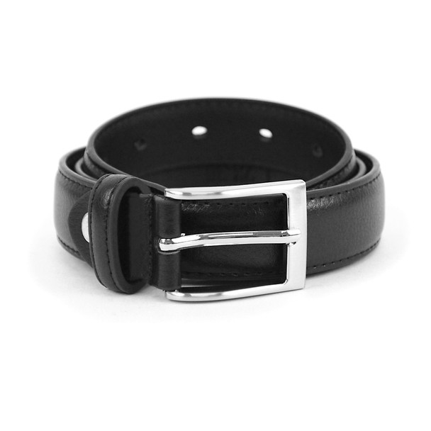 Boy's Genuine Leather Dress Black Belt BOYB0602