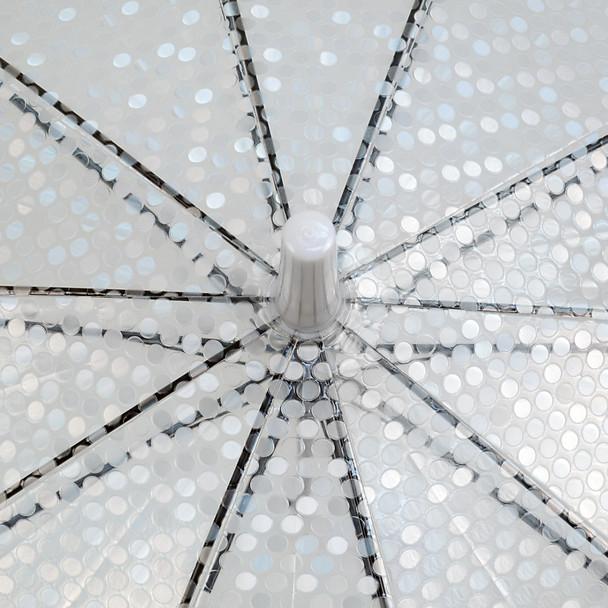Polka Dots See-Thru Premium Clear Umbrella  UM5002