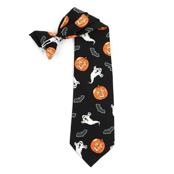 "Boy's ""Jack-o-lanterns"" Halloween Novelty Tie BN3301-T"