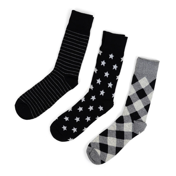 Fancy Multi Colored Socks Striped Gift Box (3 Pairs in Box) MFS1009