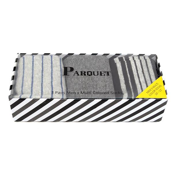 Fancy Multi Colored Socks Striped Gift Box (3 Pairs in Box) MFS1019