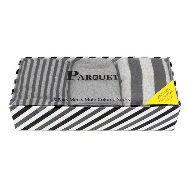 Fancy Multi Colored Socks Striped Gift Box (3 Pairs in Box) MFS1021