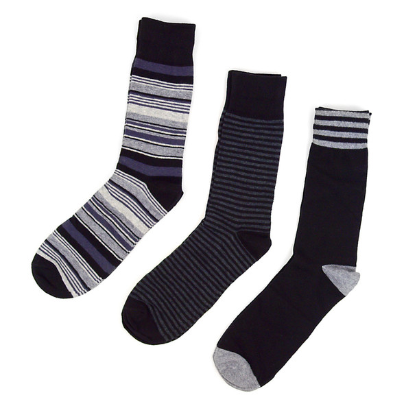 Fancy Multi Colored Socks Striped Gift Box (3 Pairs in Box) MFS1022