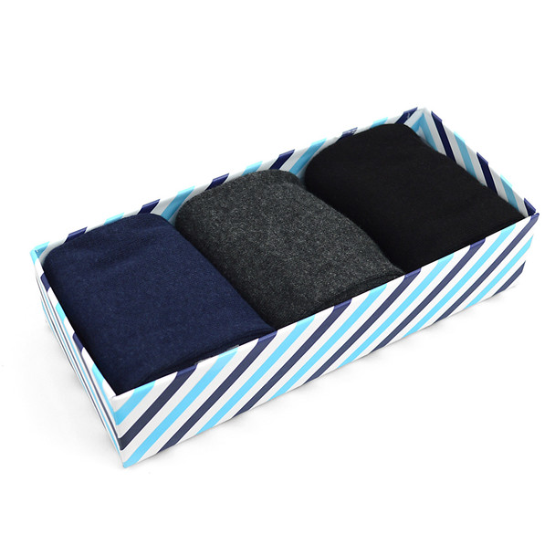 Fancy Multi Colored Socks Striped Gift Box (3 Pairs in Box) MFS1023