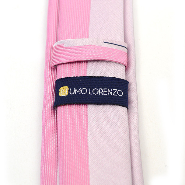 """Pink Microfiber Poly Woven 2.25"""" Slim Panel Tie - MPPW1608"""