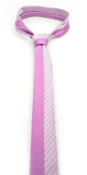 "Lavender Microfiber Poly Woven 2.25"" Slim Panel Tie - MPPW1609"
