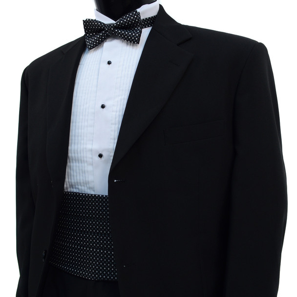 Men's Fancy Neat Matching Cummerband and Bow tie Set MPWCBBT