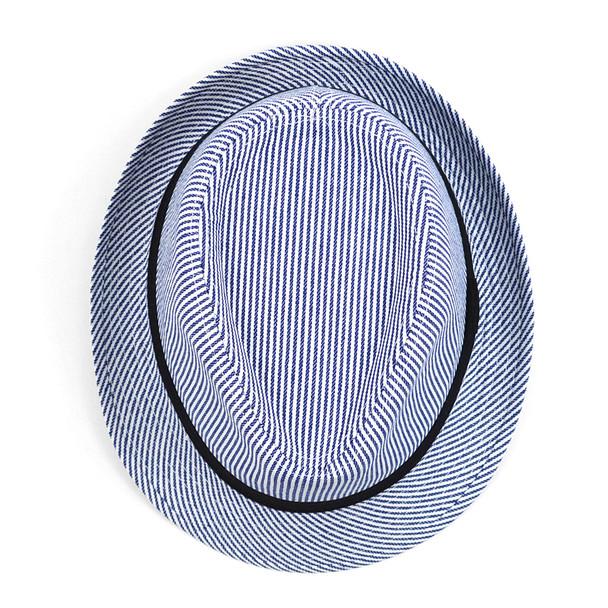 Spring/Summer Striped Fashion Fedora with Black Band FSS17102