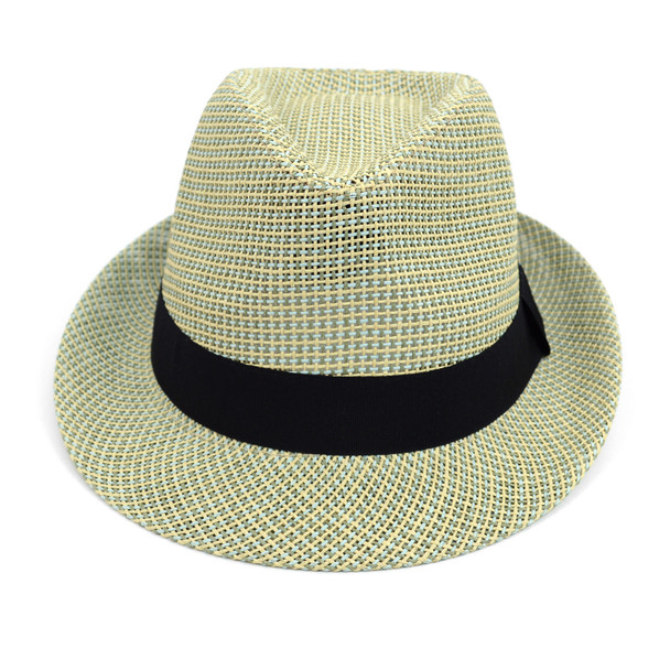 Spring/Summer Woven Fashion Fedora with Black Band FSS17109