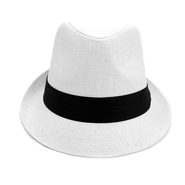 spring/Summer Classic Style Fashion Fedora Hats with Black Band FSS17124