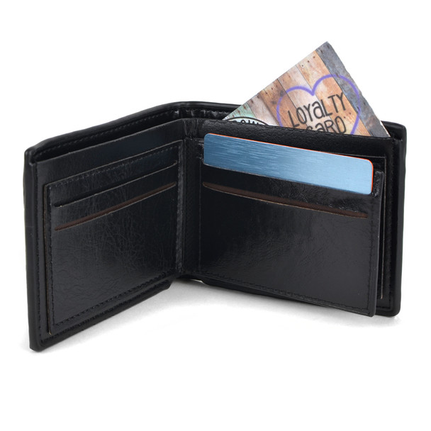 12pc Men's Black Bi-Fold Wallet & Auto Slide Belt Set ASBWB17110