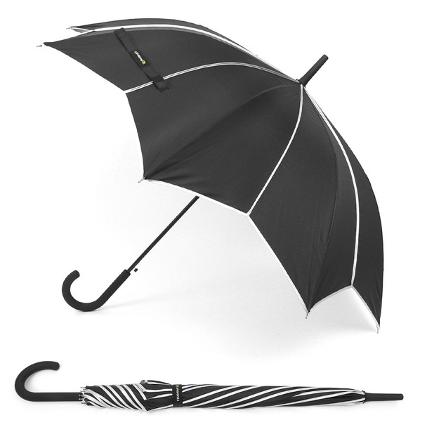 12pc Pack Black & Silver Umbrella with Pointed Canopy UL1703