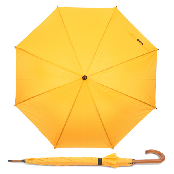 12pc Wooden Auto-Open Umbrella with Metal Frame UL1704