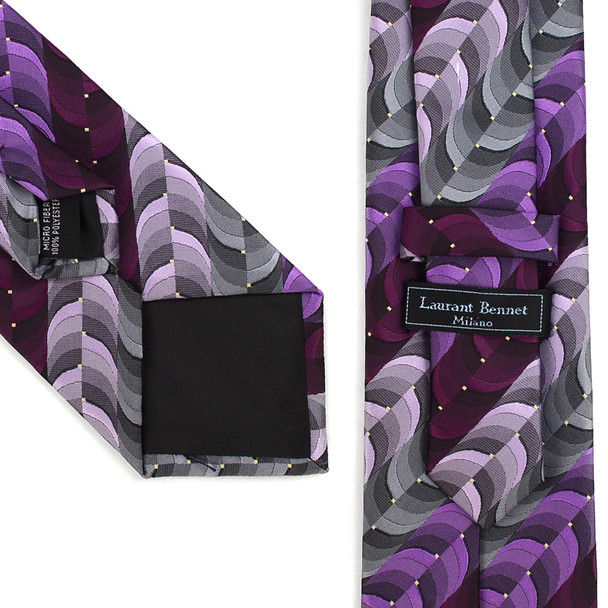 Geometric Pattern Tie & Matching Pocket Round Set MPWTH170333