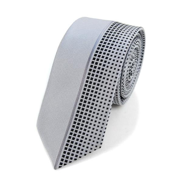 "Grey Microfiber Poly Woven 2.25"" Slim Panel Tie MPPW1625"