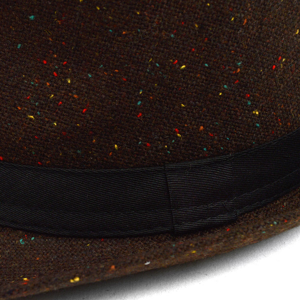 Fall/Winter Multi Color Sprinkled Trilby Fedora Hat with Band Trim H171385