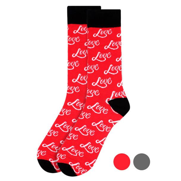 """Men's """"Love"""" Novelty Socks NVS1766-67"""