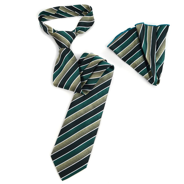 Stiped Tie & Matching Pocket Round Set MPWTH170628