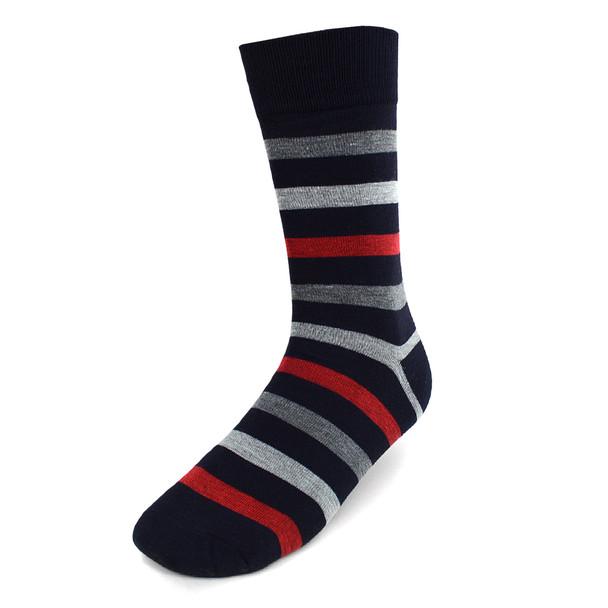 Assorted Pack (3 Pairs) Men's Black & Hot Pink Casual Fancy Socks 3PKS/BLKHPK