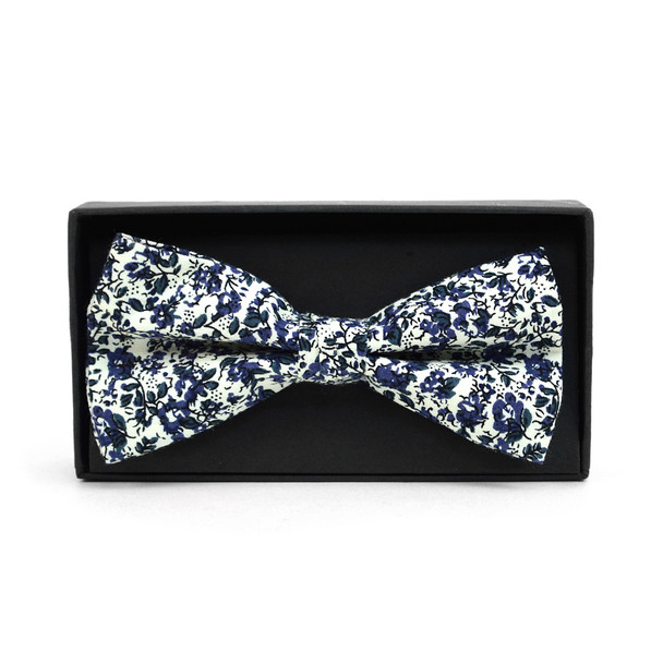 3pc Floral Wedding Cotton Banded Bow Tie - NFCB17122