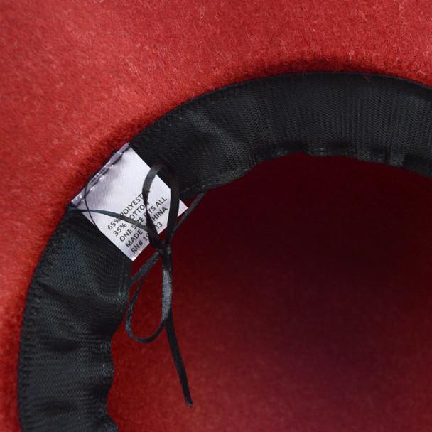 Women's Polyester Felt Floppy Short Brim Bowknot Hat LWH7304
