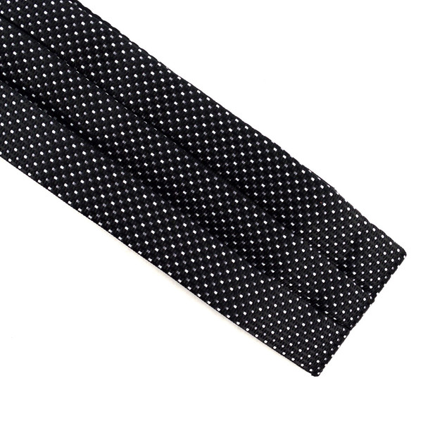 Dots Pattern Microfiber Poly Woven Ascot With Hooks - PPA1715