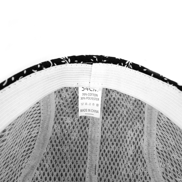 Boy's Black Clip-on Suspender, Botanical Pattern Ivy Hat & Matching Bow Tie Set (BSBIV0807H3-1)