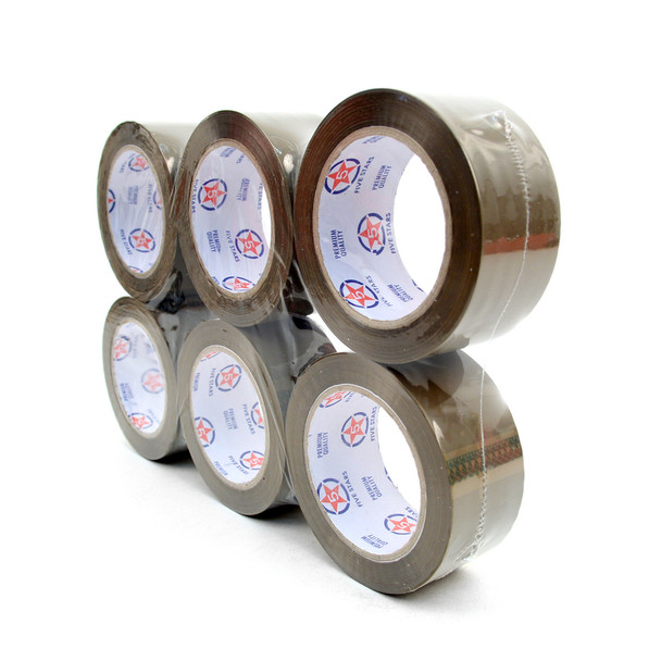 "6-Rolls Packing Tape Commercial Grade - 2"" Wide -TPT2"