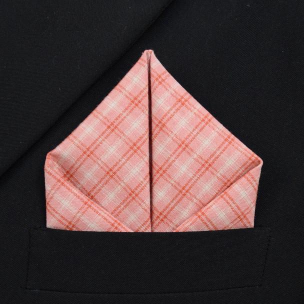 12pc Cotton Plaid Pocket Square Handkerchiefs - CH1729