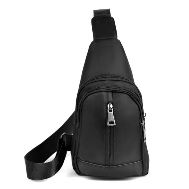 Black Crossbody  Sling Bag Backpack with Adjustable Strap - FBG1823-BK