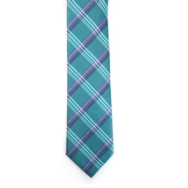 Plaid Microfiber Poly Woven Tie - MPW5906