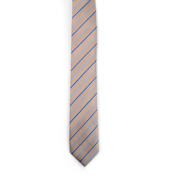 "Striped Microfiber Poly Woven 2.25"" Slim Tie - MPWS5905"