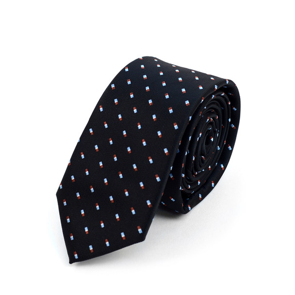 "Dots Microfiber Poly Woven 2.25"" Slim Tie - MPWS5907"