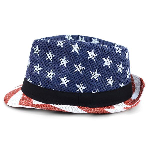 Spring/Summer American Flag Fedora Hat - H10400