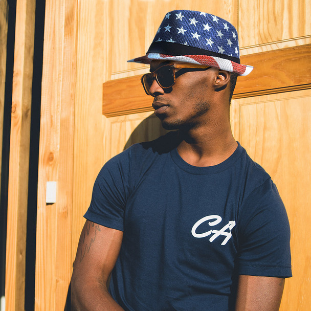 Spring/Summer USA Stars & Stripes American Flag Trilby Fedora Hat - H10400