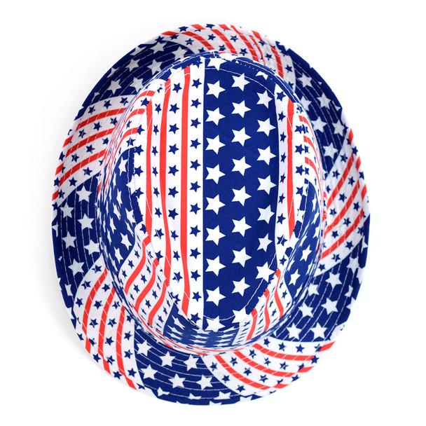 Spring/Summer American Flag Fedora Hat - H10407