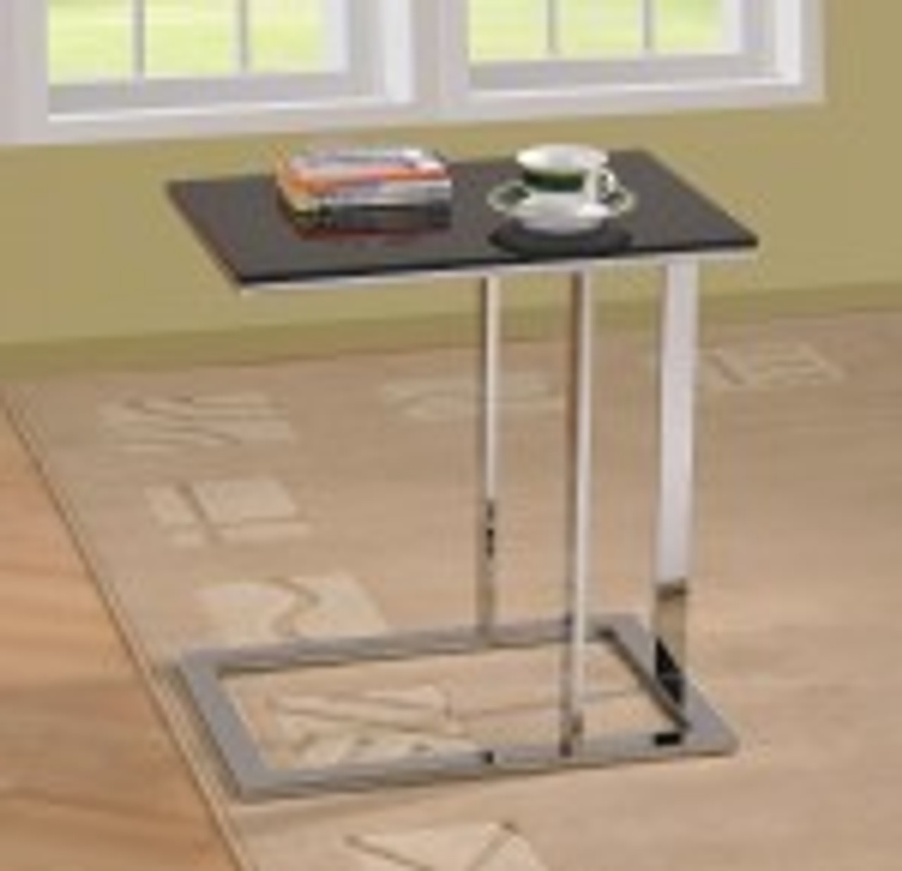 Very Stylish Accent Table The Base Can Slide Under The Sofa For
