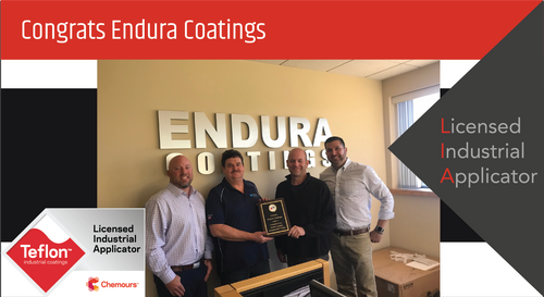 Intech Services Thanks Endura Coatings for Its Service as an LIA