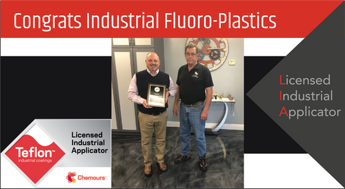 Intech Services Thanks Industrial Fluoro-Plastics for Its Service as an LIA