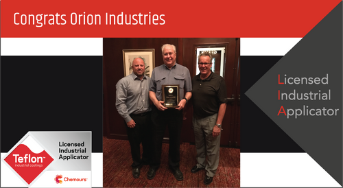 Intech Services Thanks Orion Industries for Its Service as an LIA