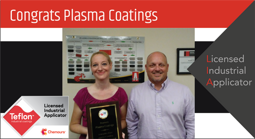 Intech Services Thanks Plasma Coatings for Its Service as an LIA