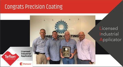 Intech Services Thanks Precision Coating for Its Service as an LIA