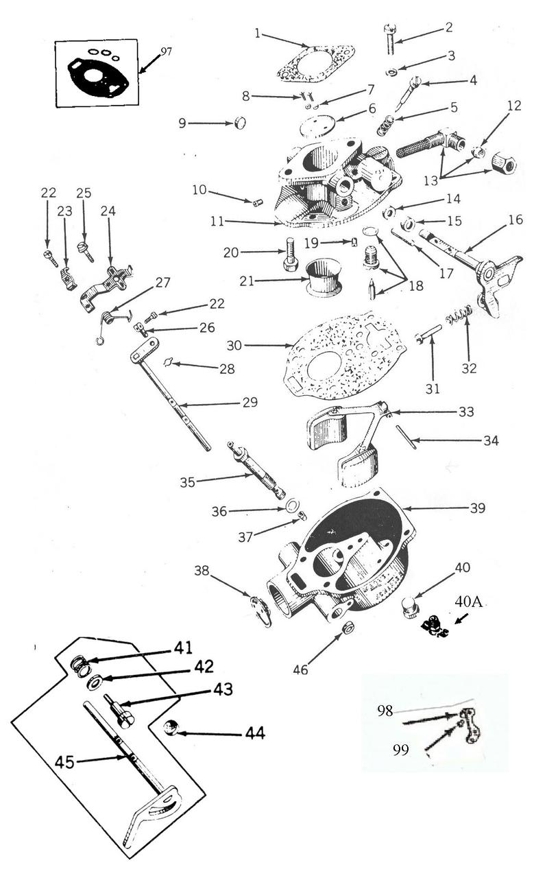 Ford 9n Carburetor Diagram | Repair Manual