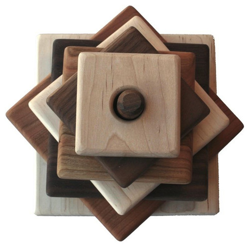 Square Wood Stacker Toy