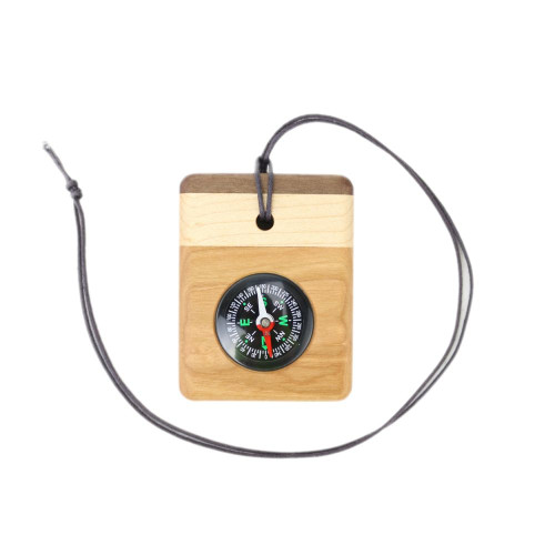 Wood Pocket or Necklace Compass