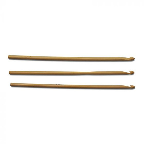 Bamboo Crochet Needle Hook 4 mm - Size G/6