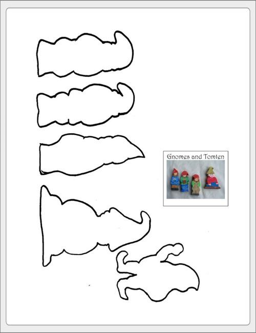 Free Gnomes & Tomten Wood or Felt Pattern
