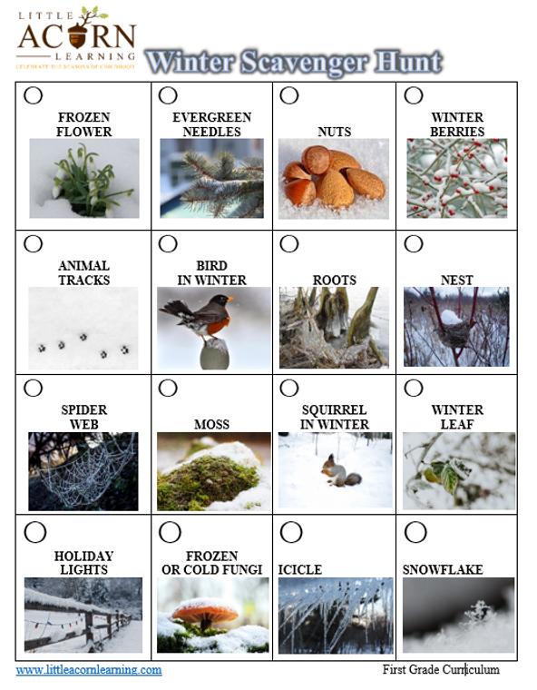 Free Winter Scavenger Hunt